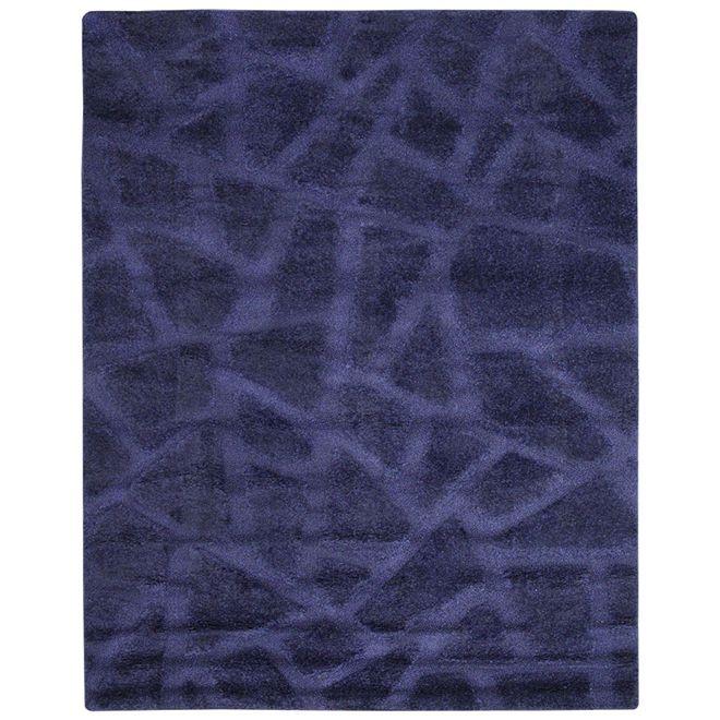 Tapete Geométrico Azul Verena 3D 2,00X3,00m