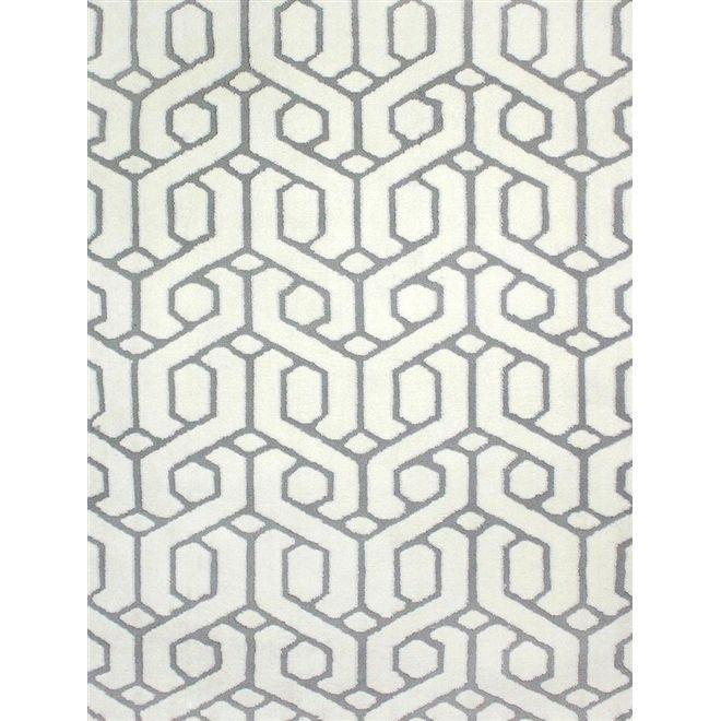 Tapete Geométrico Brancoazul Doha 1,40X2,00m