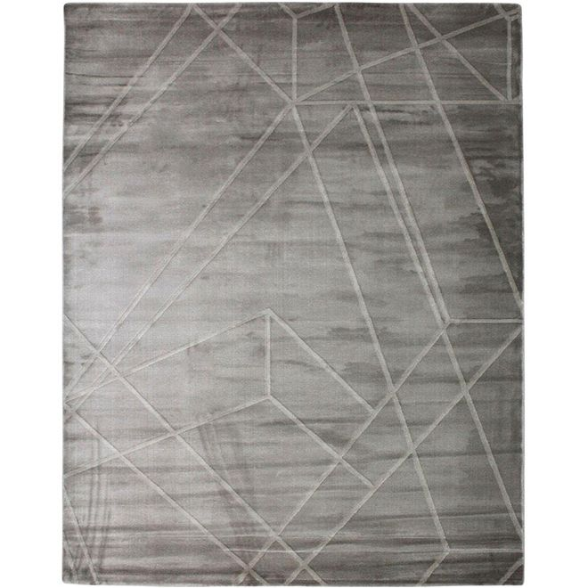 Tapete Geométrico Cinza Azad - 1,50X2,00m