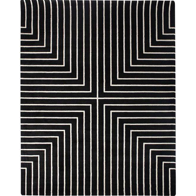 Tapete Geométrico Cinza Azad - 2,00X2,50m