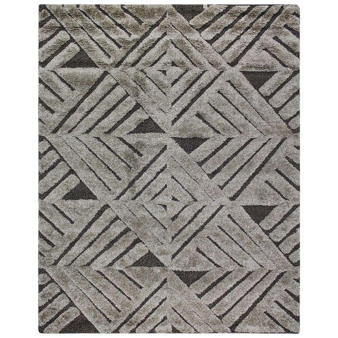 Tapete Geométrico Cinza Verena 3D 3 2,00X3,00m