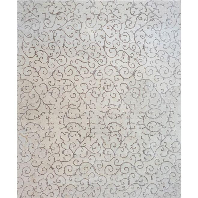 TAPETE INDO NEPAL KYOWA WHITE BEIGE 2,50x3,00m