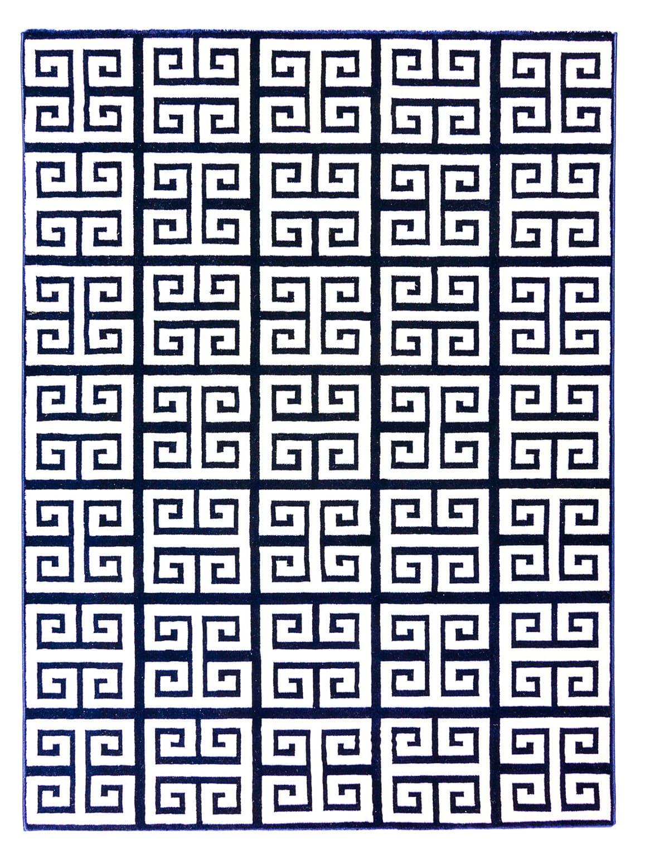 TAPETE JULIA NAVY WHITE 2,00X3,00m