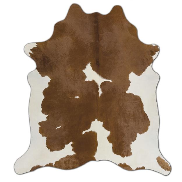 Tapete Pele Formato Marrom E Branco Grande