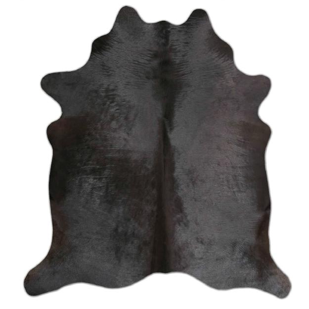 Tapete Pele Formato Natural Preto Sólido Grande