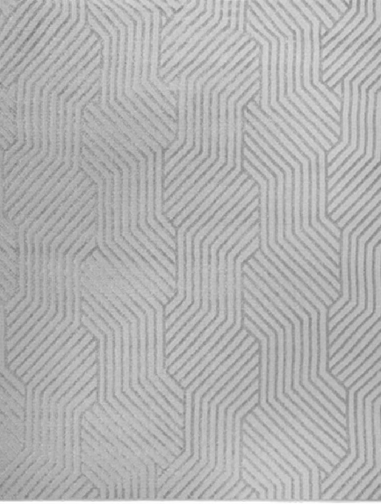 Tapete Utopia Geométrico Cinza 1,00X1,50m