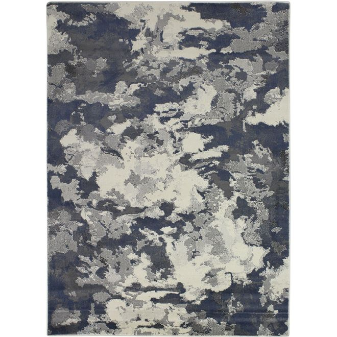 Tapete Vintage Abstrato Azul Lavi 2,00X2,90m