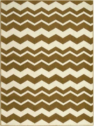 Tapete Zig Zag Colours Ouro 37/71 1,45 x 1,95m