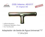 "Adaptador de Saída de Água Universal ""T"" 1 1/4 x 3/4"