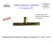 "Adaptador de Saída de Água Universal ""T"" 3/4"" x 3/4"""