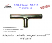 "Adaptador de Saída de Água Universal ""T"" 5/8"" x 5/8"""