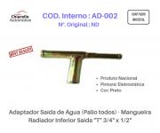 """Adaptador Saída de Água (Palio todos) - Mangueira Radiador Inferior Saída """"T"""" 3/4"""" x 1/2"""""""