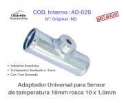 Adaptador universal para sensor de temperatura 19mm rosca 10 x 1,0mm