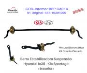 Barra Estabilizadora Suspensão Traseira Hyundai IX35 l Tucson l Kia Sportage Acompanha Kit Borrachas e Abraçadeiras