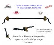 Barra Estabilizadora Suspensão Traseira Hyundai Tucson c/ Kit de Abraçadeiras e Borrachas
