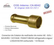 Conector do resfriador motor AE - GOL /SAVEIRO /VOYAGE /PARATI à água / LOGUS 92/94 carburado - 1.6 Álcool