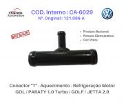 Conector T - Aquecimento Refrigeração Motor GOL /PARATI 1.0 Turbo /GOLF /JETTA 2.0