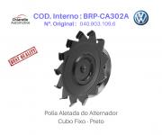 Polia Aletada do Alternador Kombi Fusca Brasília I Cubo Fixo - Preto