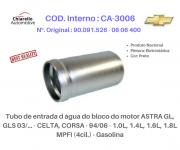 Tubo da água do bloco do motor ASTRA - CELTA - CORSA - Gasolina