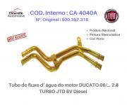 Tubo do fluxo da água do motor DUCATO 06/... 2.8 TURBO JTD 8V Diesel