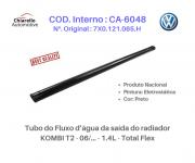 Tubo do Fluxo da água da saída do radiador KOMBI T2 - 06/... - 1.4L - Total Flex