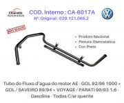 Tubo da água motor AE - GOL /SAVEIRO /VOYAGE /PARATI 1.6 - Gas. - Todos C/ar quente