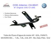 Tubo da água motor AP - GOL, /PARATI /SAVEIRO 1.6L, 1.8L, 2.0L EFI - Álc./Gas./Flex. -S/ar