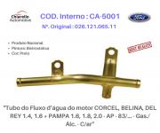 Tubo da água do motor CORCEL - BELINA - DEL REY - PAMPA 1.6, 1.8, 2.0 - AP - 83/... - Gas./Alc. - C/ar