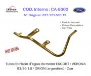 Tubo da água do motor ESCORT / VERONA 93/96 1.8/ ORION (argentino)  Com Ar