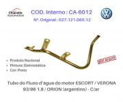 Tubo do Fluxo da água do motor ESCORT / VERONA 93/96 1.8 / ORION (argentino) - S/ar