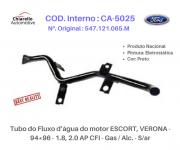 Tubo do Fluxo da água motor ESCORT, VERONA - 1.8, 2.0 AP CFI - Gas / Alc. - S/ar