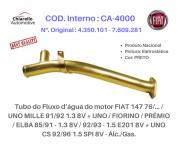 Tubo água do motor FIAT 147 UNO MILLE FIORINO PRÊMIO ELBA 8V - Álc./Gas.