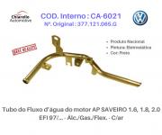 Tubo da água motor GOL 94/97 / PARATI 96/97 1.6, 1.8 EFI/CFI AP Álc./Gas. C/Ar Quente