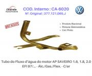 Tubo da água motor GOL SAVEIRO PARATI C/ injeção radiador de óleo e S/Ar Quente