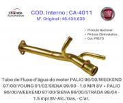 Tubo da água motor PALIO SIENA STRADA MPI 8V-Alc./Gas. - C/ar.