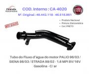 Tubo da água do motor PALIO 96/03 / SIENA 98/03 / STRADA 99/02 - 1.6 MPI 8V/16V - Gasolina - C/ ar