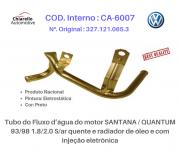 Tubo da água do motor SANTANA /QUANTUM 1.8/2.0 S/ar quente e radiador de óleo e c/ injeção