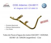Tubo da água motor VERONA / ESCORT 1.8 - 93 À 96 / ORION (ARGENTINO) C/ AR.