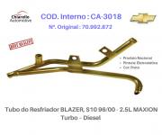 Tubo do Resfriador BLAZER S10 96/00 - 2.5L MAXION Turbo – Diesel