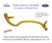 Tubo inferior do radiador motor FIESTA / KA / COURIER - ZETEC ROCAM 1.0 1.6.
