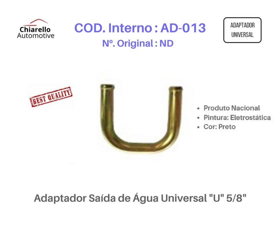 "Adaptador Saída de Água Universal ""U"" 5/8""  - Chiarello Automotive"