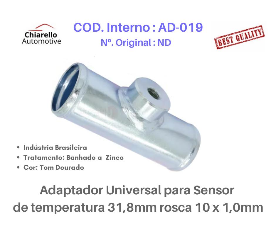 Adaptador universal para sensor de temperatura 31,8mm rosca 10 x 1,0mm  - Chiarello Automotive