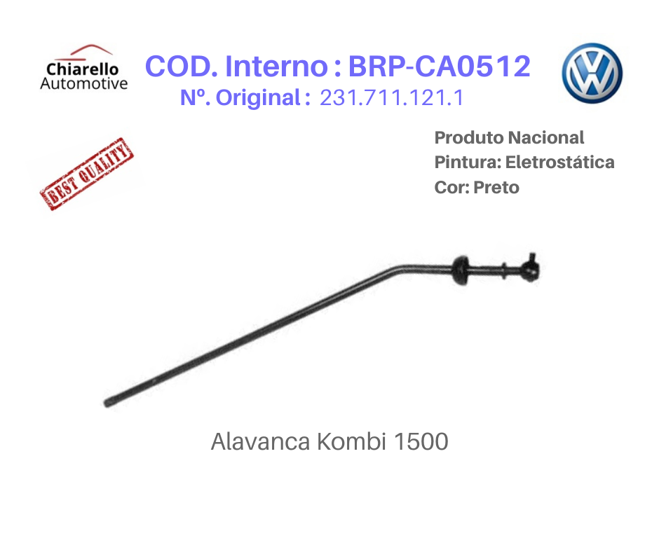 Alavanca Kombi 1500 Medida 52cm  - Chiarello Automotive