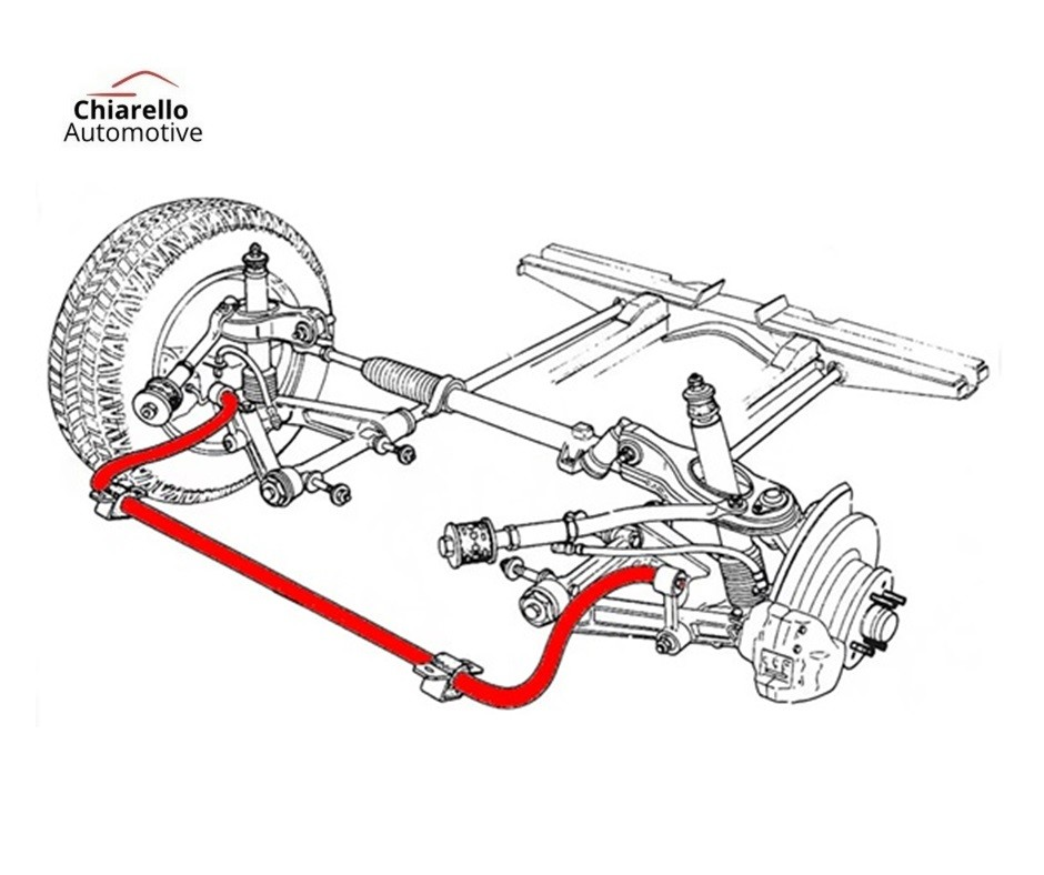 Barra Estabilizadora Suspensão Traseira Kia Sportage c/ Kit de Abraçadeiras e Borrachas  - Chiarello Automotive