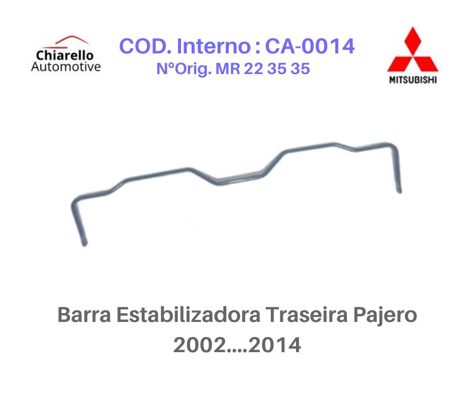 Barra Estabilizadora Traseira Mitsubishi Pajero TR4  - Chiarello Automotive