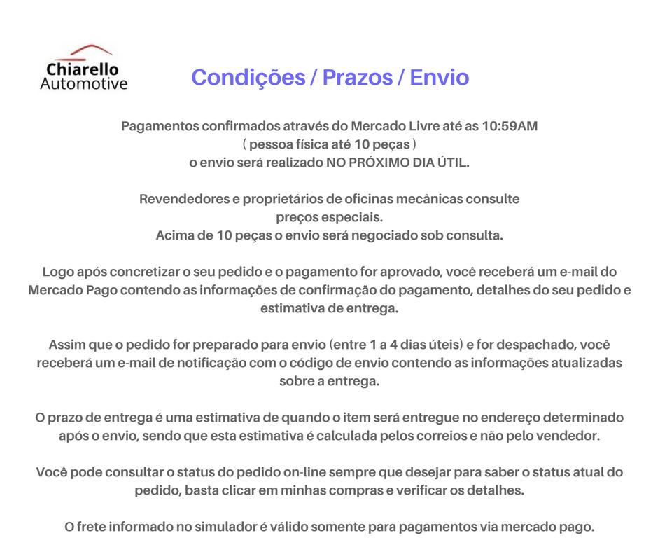 Tubo de acoplamento do radiador ESCORT/VERONA 1.6 CFI – ORION (argentino)- Alc./Gas. - S/ Ar.  - Chiarello Automotive