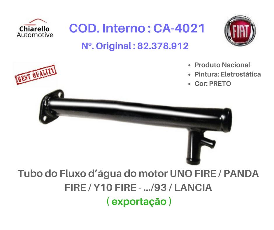 Tubo de Refrigeração UNO FIRE .../93 Exportação  - Chiarello Automotive