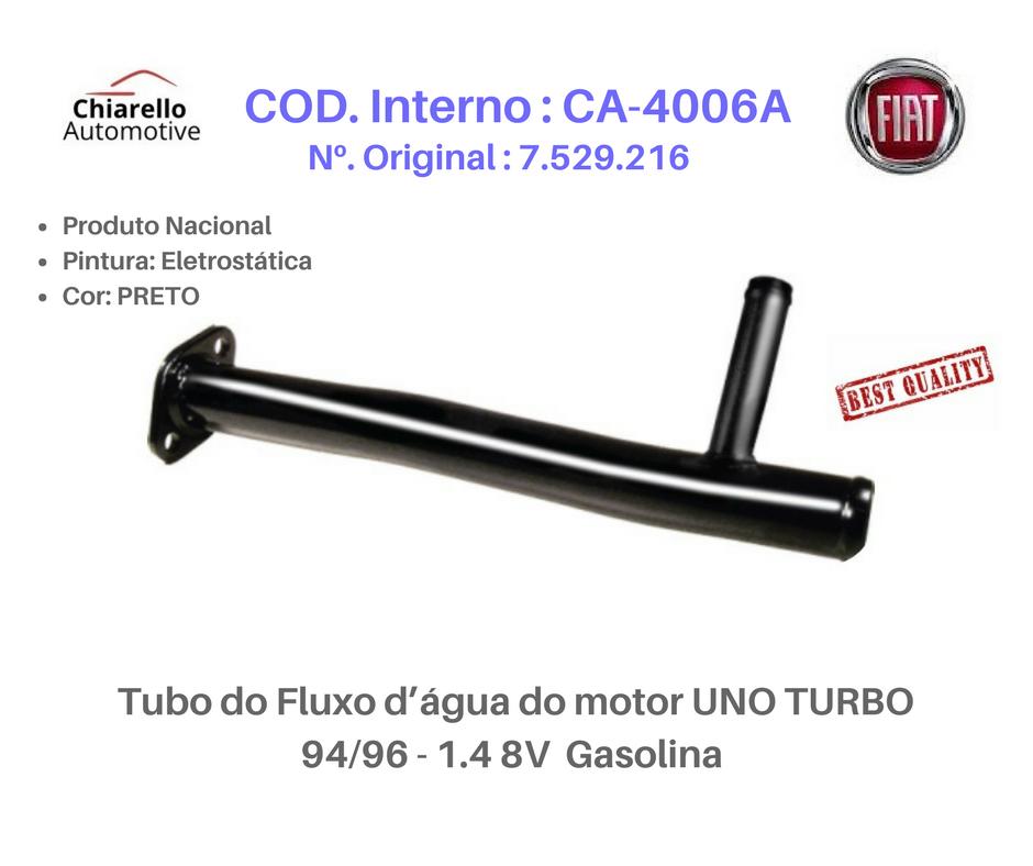 Tubo de Refrigeração UNO TURBO 1.4 TURBO 8V 94/96 - Gasolina  - Chiarello Automotive