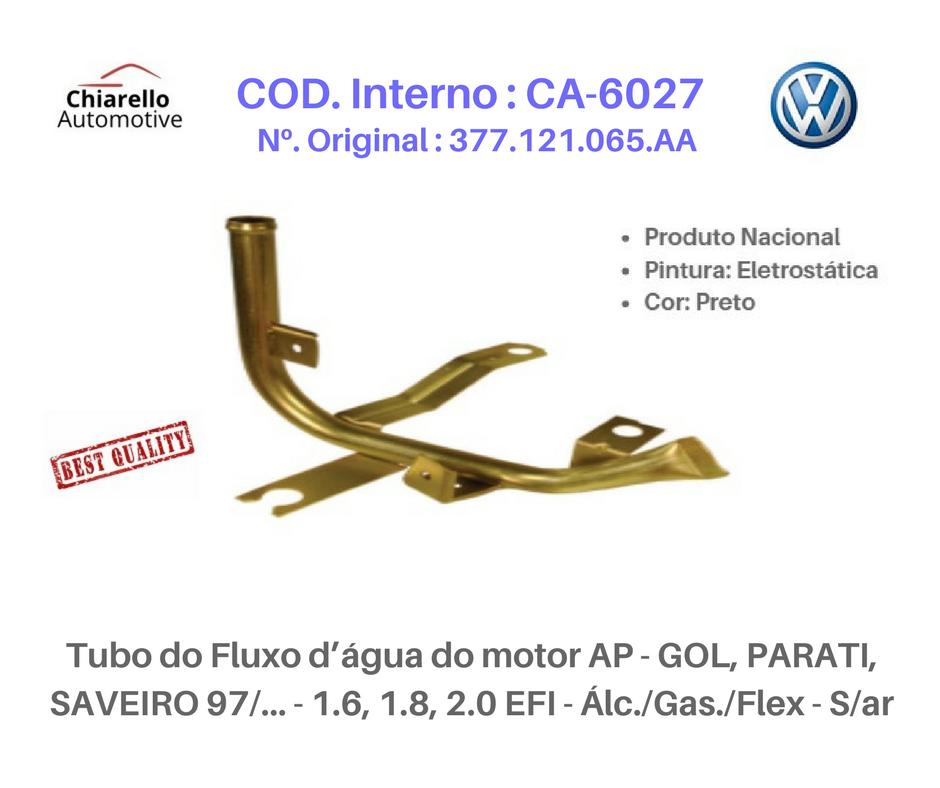 Tubo do radiador inferior p/ entrada da bomba da água LOGUS 1.6 AE Alc./Gas. S/Ar Quente  - Chiarello Automotive