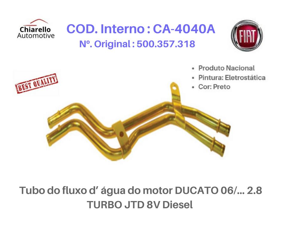 Tubo do fluxo da água do motor DUCATO 06/... 2.8 TURBO JTD 8V Diesel   - Chiarello Automotive